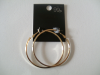 Square cut hoop earrings - ex high street (Code 0221)